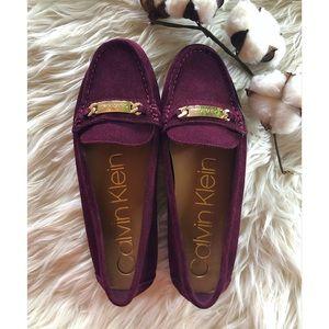 NWOT Calvin Klein Lunasi Suede Loafers